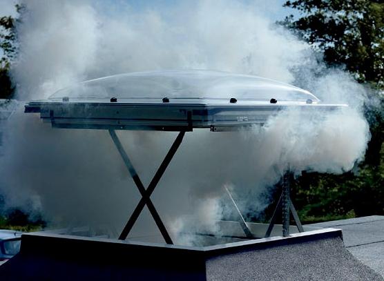 Димоотвеждаща система за плосък покрив