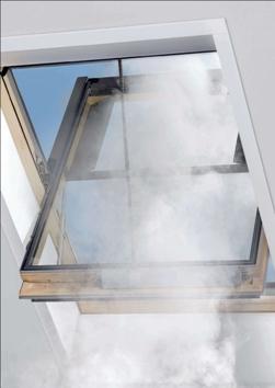 Димоотвеждаща система за скатен покрив