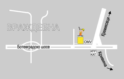 """Карта на Строителна борса """"Партньори"""""""