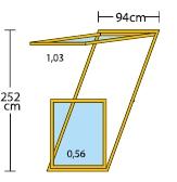 Размери и светла площ на прозорец-балкон