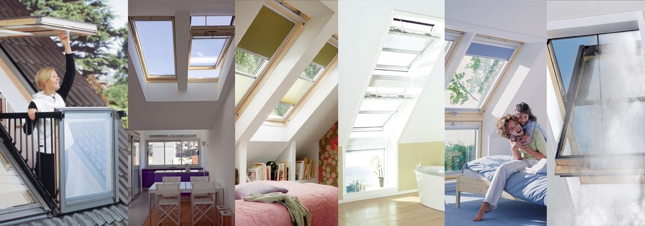Покривни прозорци за скатен покрив
